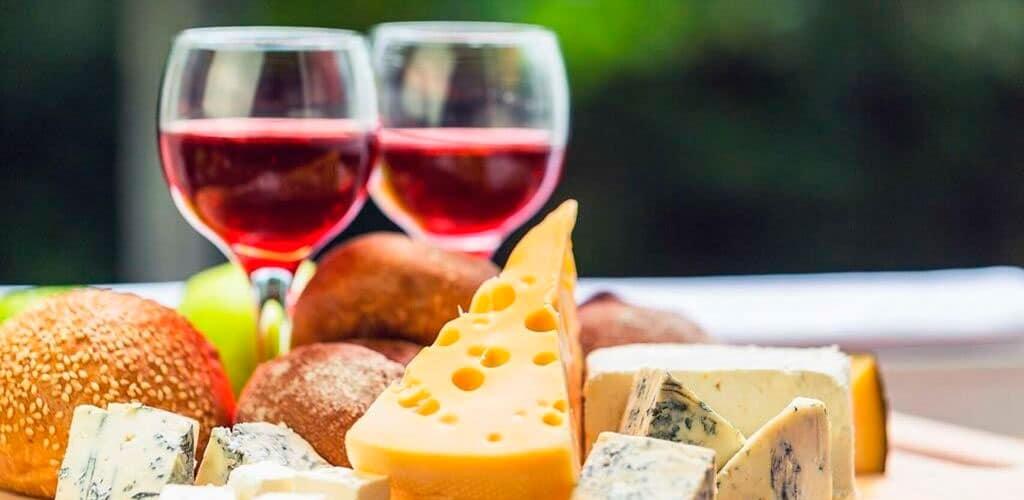 maridaje de queso y vino